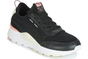 puma rs womens black black trainers womens