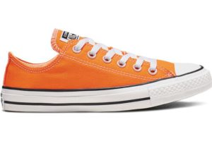 converse-all star ox-womens-orange-164937C-orange-trainers-womens