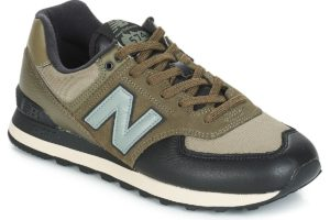 new balance 574 mens green green trainers mens