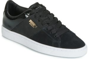 puma basket womens black black trainers womens