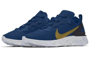 Nike React Element Womens Blue Cj1497 991 Blue Trainers Womens