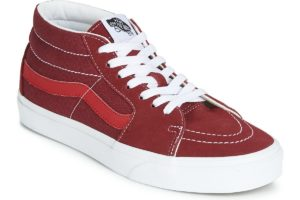 vans-sk8-mid (high-top trainers) in-womens-red-vn0a3wm3vxz1-red-trainers-womens