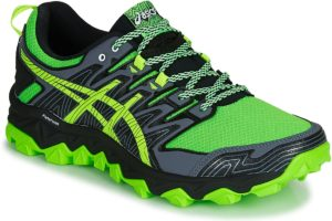 asics gel fuji mens green green trainers mens