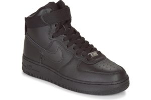 nike air force 1 womens black black trainers womens