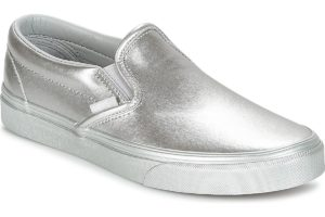 vans-slip-on s (trainers) in-womens-silver-a38f7qtv-silver-trainers-womens