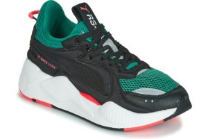 puma rs mens green green trainers mens