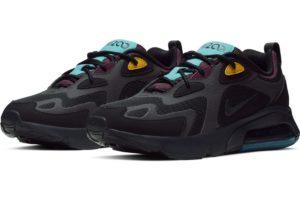 nike-air max 200-womens-black-at6175-001-black-trainers-womens