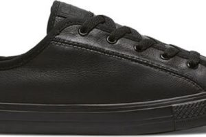 converse-all star ox-womens-black-564986C-black-trainers-womens