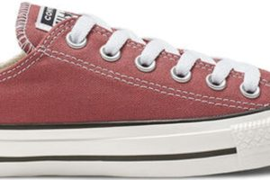converse-all star ox-womens-red-164935C-red-trainers-womens