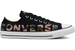 converse-all star ox-womens-black-166234C-black-trainers-womens