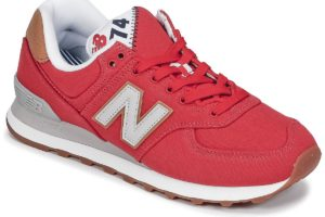 new balance-574-womens-red-ml574yla-red-trainers-womens