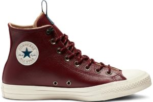 converse-all star high-womens-red-162384C-red-trainers-womens