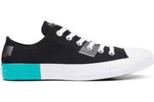 converse-all star ox-womens-black-165331C-black-trainers-womens