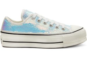 converse-all star ox-womens-silver-566603C-silver-trainers-womens