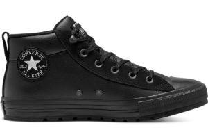 converse-all star mid-womens-black-166071C-black-trainers-womens
