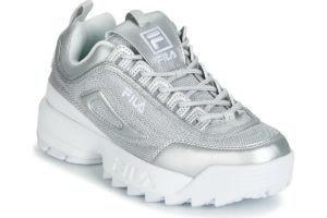 fila-disruptor mm low s (trainers) in-womens-silver-1010607-3vw-silver-trainers-womens