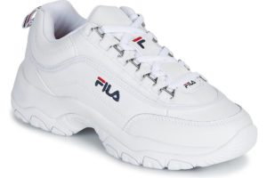fila-strada low s (trainers) in-womens-white-1010560-1fg-white-trainers-womens