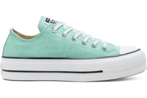 converse-all star ox-womens-green-566758C-green-trainers-womens