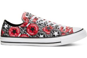 converse-all star ox-womens-red-166986C-red-trainers-womens