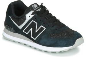 new balance-574 s (trainers) in-womens-black-wl574ez-black-trainers-womens