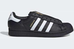 adidas-superstar lacelesss-mens-black-FV3018-black-trainers-mens