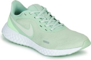 nike-revolution 5 sports trainers () in-womens-green-bq3207-300-green-trainers-womens