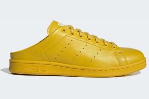 adidas-stan smith slip-ons-mens-yellow-FX0531-yellow-trainers-mens