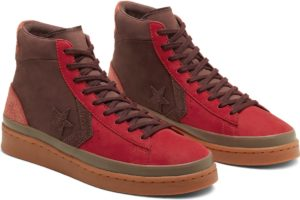 converse-pro leather-womens-red-167269C-red-trainers-womens