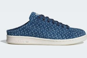 adidas-stan smith mules-mens-blue-FX2539-blue-trainers-mens