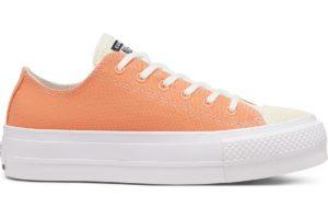 converse-all star ox-womens-orange-567855C-orange-trainers-womens