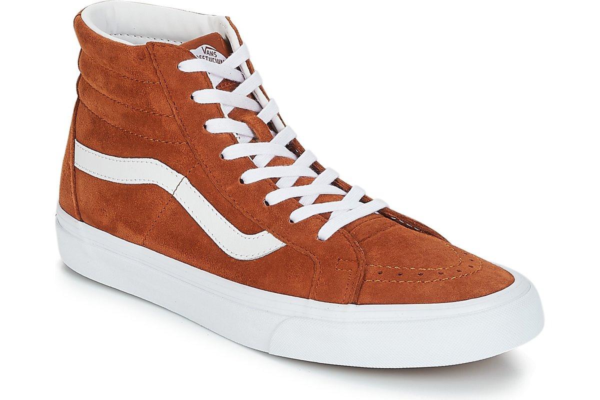vans-sk8-hi reissue s (high-top trainers) in-womens-brown-va2xsbu5k-brown-trainers-womens