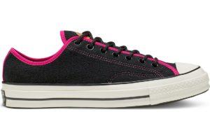 converse-all star ox-womens-black-166213C-black-trainers-womens