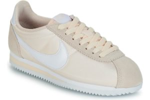 nike-cortez nylon s (trainers) in beige-womens-beige-749864-803-beige-trainers-womens