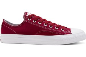 converse-all star ox-womens-red-167607C-red-trainers-womens
