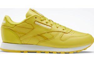 reebok-classic leathers-Women-yellow-FW2043-yellow-trainers-womens