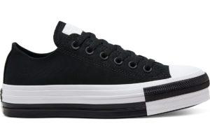 converse-all star ox-womens-black-568657C-black-trainers-womens