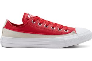 converse-all star ox-womens-red-168899C-red-trainers-womens
