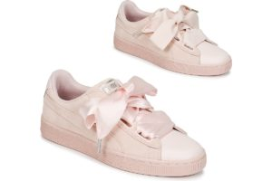 puma-suede heart bubble ws s (trainers) in-womens-pink-366441-02-pink-trainers-womens