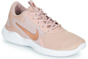 nike-flex experience run 9 sports trainers () in-womens-pink-cd0227-200-pink-trainers-womens