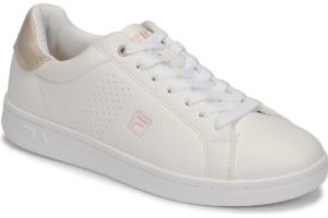 fila-crosscourt low s (trainers) in-womens-white-1010776-84w-white-trainers-womens