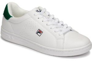 fila-crosscourt lows (trainers) in-mens-white-1010276-85p-white-trainers-mens