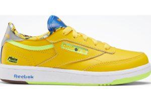 reebok-club c 85s-Kids-yellow-FX3353-yellow-trainers-boys