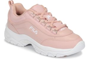 fila-strada low s (trainers) in-womens-pink-1010560-72w-pink-trainers-womens