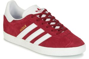 adidas-gazelle j ss (trainers) in bordeaux-boys