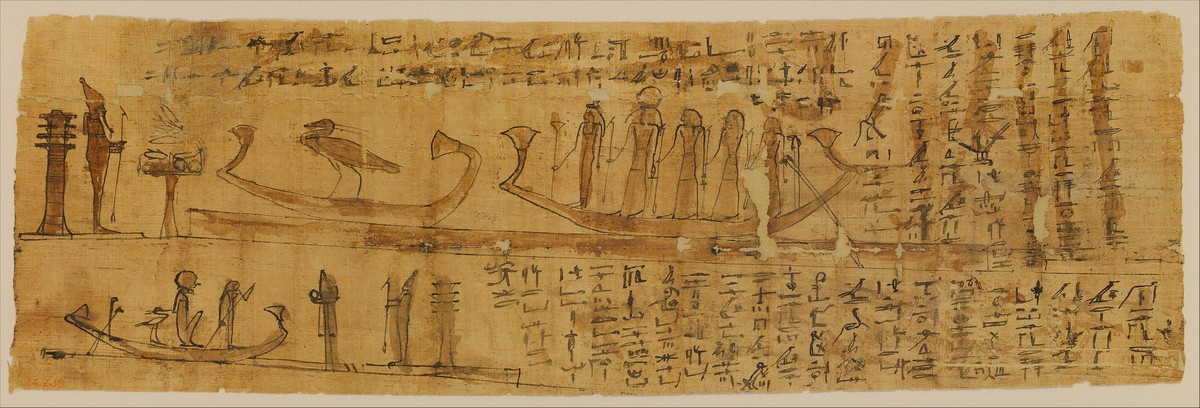 Standard book of the dead papyrus with chapters 100 and 129 met dp244339