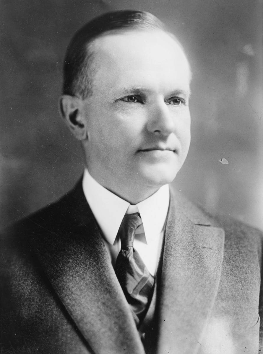 Standard john calvin coolidge  bain bw photo portrait