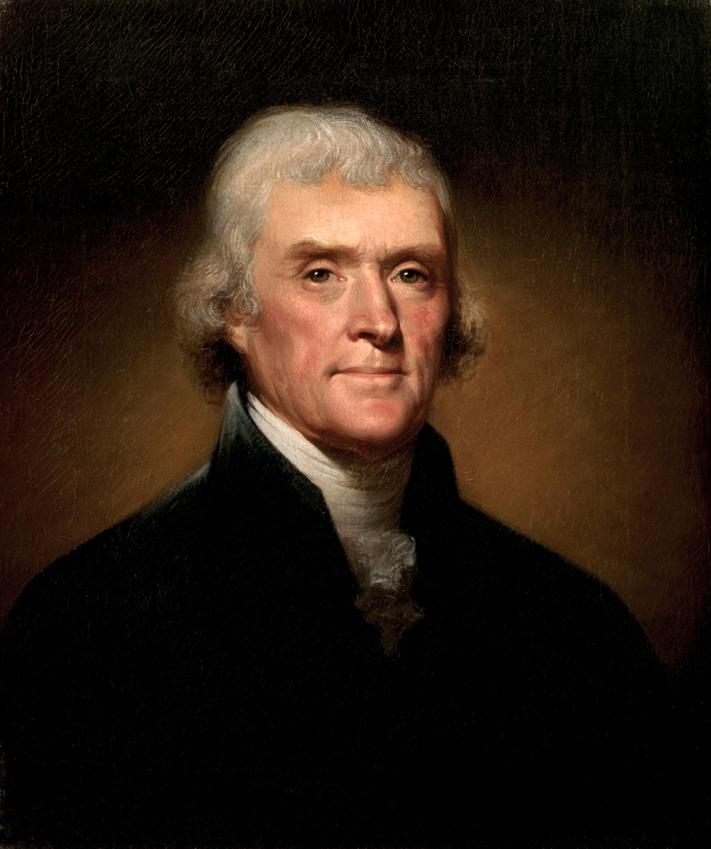 Standard thomas jefferson by rembrandt peale  1800