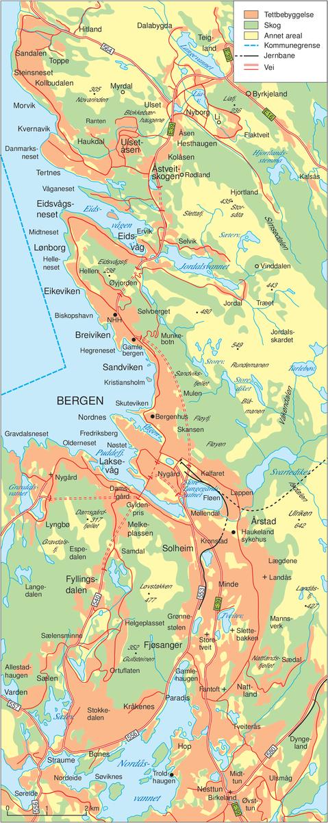Bergen kommune kart