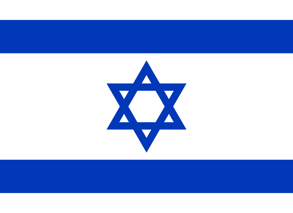 Standard israel flagg