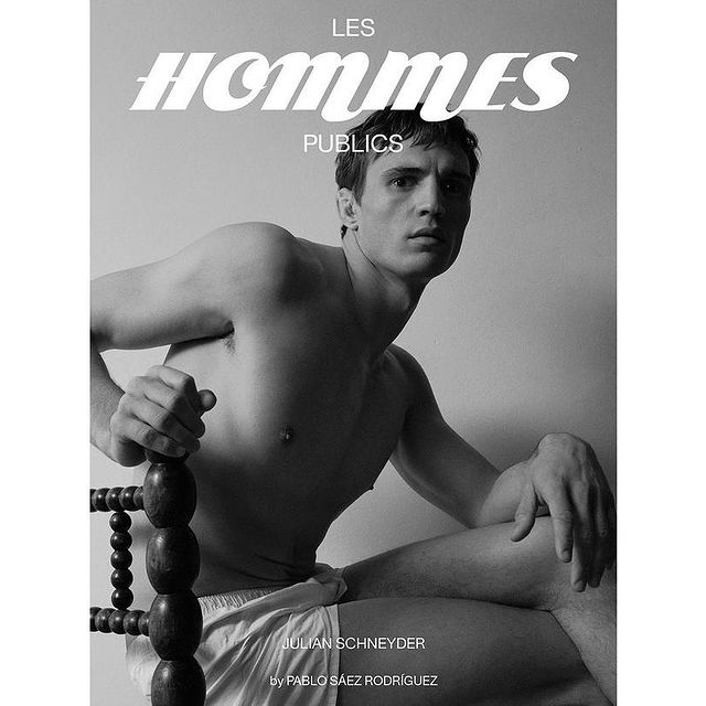 Amazing cover for @leshommespublics by @pablo.saez - Hair and Make-up by @pacopoki - Art Direction by @cobaltostudio - Styling by @euscanto 💪❤️